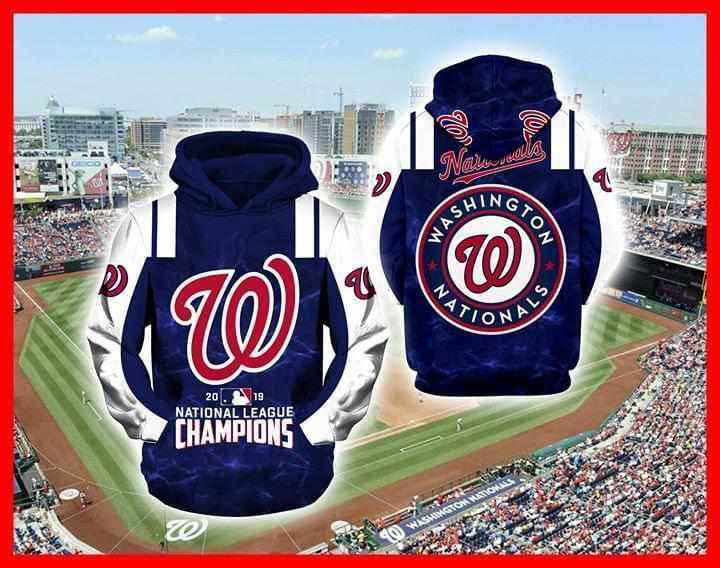 2019 Washington Nationals National Champions Hoodie 3d