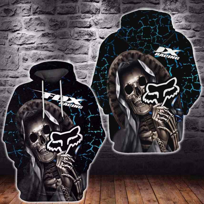 Skull Racing Fox For Fx Lover Hoodie 3d