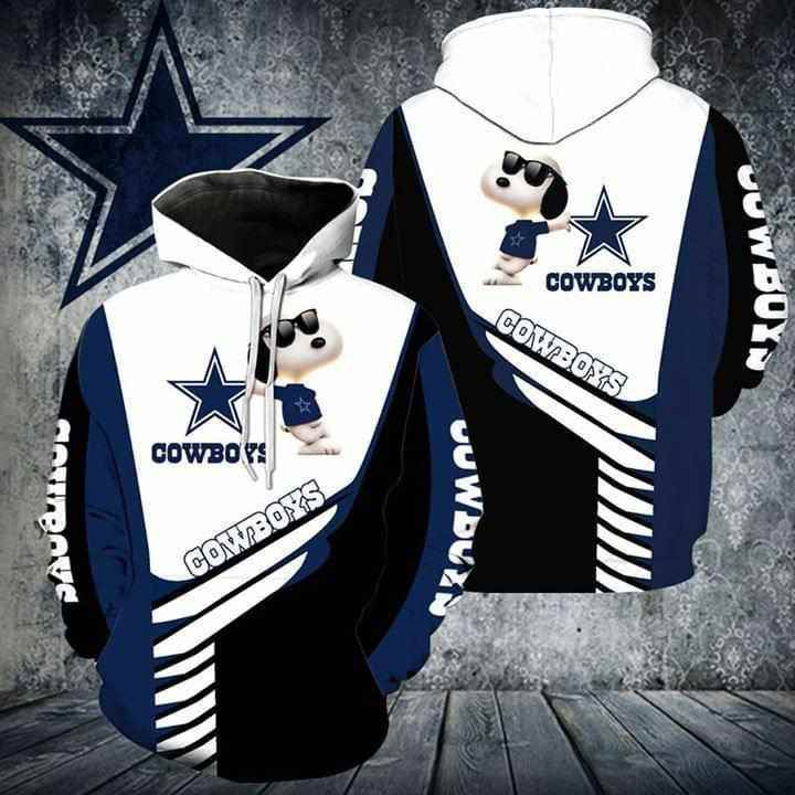Snoopy Dallas Cowboys For Cowboys Fan Hoodie 3d
