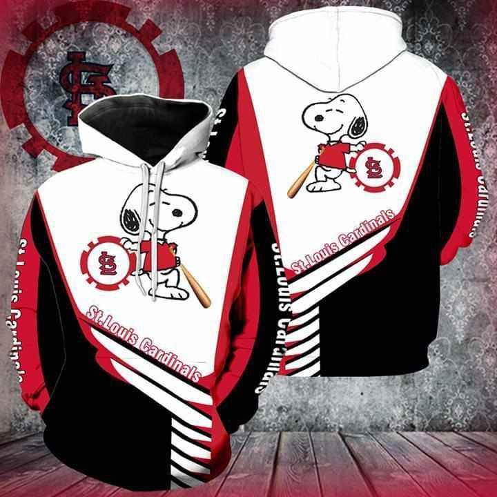 St Louis Cardinals Snoopy Player Hoodie 3d