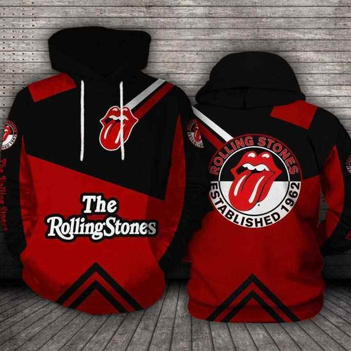 The Rolling Stones Established 1962 Logo Hoodie 3d